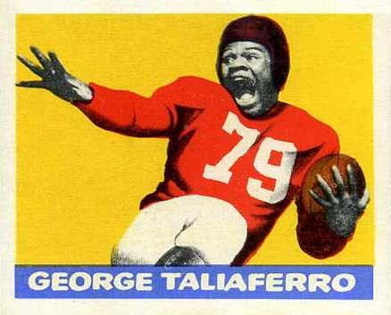 1948 Leaf George Taliaferro #20-yel Football Card