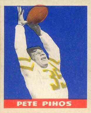 1948 Leaf Pete Pihos #16-yel Football Card
