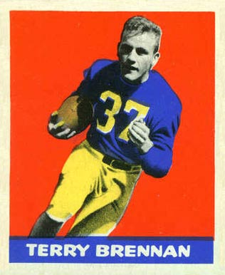 1948 Leaf Terry Brennan #11 Football Card