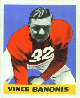 1948 Leaf Vince Banonis #8-BNOF Football Card