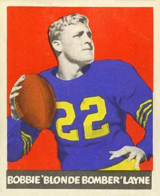 1948 Leaf Bobby Layne #6-yel Football Card