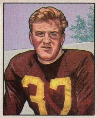 1950 Bowman Joe Tereshinski #139 Football Card
