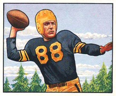 1950 Bowman Jim Finks #128 Football Card