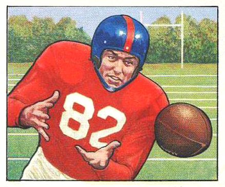 1950 Bowman Ray Poole #32 Football Card