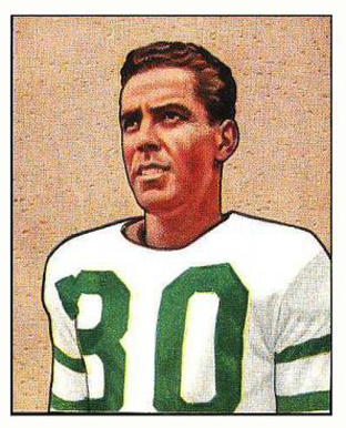 1950 Bowman Bosh Pritchard #25 Football Card