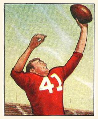 1950 Bowman Billy Dewell #22 Football Card
