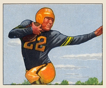 1950 Bowman Jerry Nuzum #20 Football Card