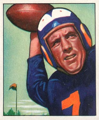 1950 Bowman Bob Waterfield #17 Football Card