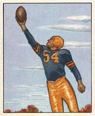 1950 Bowman Val Jansante #18 Football Card