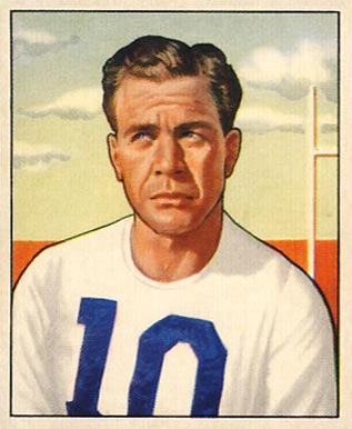 1950 Bowman Joe Goldring #12 Football Card