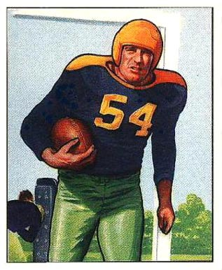 1950 Bowman Larry Craig #10 Football Card