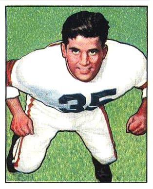 1950 Bowman Alex Agase #7 Football Card