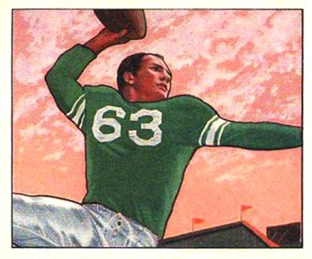 1950 Bowman Y.A. Tittle #5 Football Card