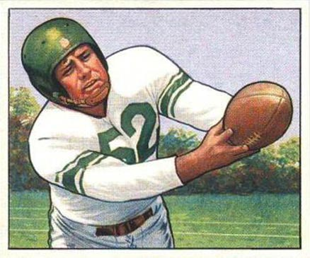 1950 Bowman Bob Nowasky #3 Football Card