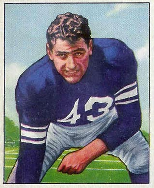1950 Bowman Martin Ruby #13 Football Card