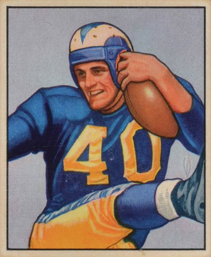 1950 Bowman Elroy Hirsch #52 Football Card