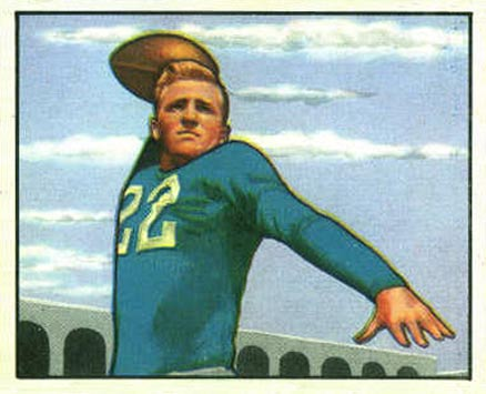 1950 Bowman Bobby Layne #37 Football Card