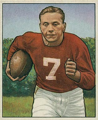 1950 Bowman Elmer Angsman #21 Football Card