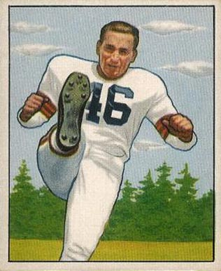 1950 Bowman Lou Groza #6 Football Card