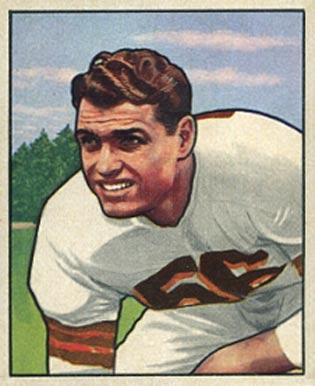 1950 Bowman Dante Lavelli #78 Football Card