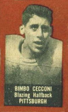1950 Topps Felt Backs Bimbo Cecconi #13b Football - VCP Price Guide