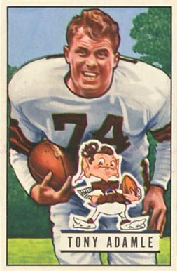 1951 Bowman Tony Adamle #110 Football Card