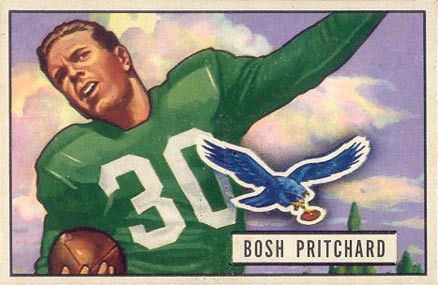 1951 Bowman Bosh Pritchard #82 Football Card