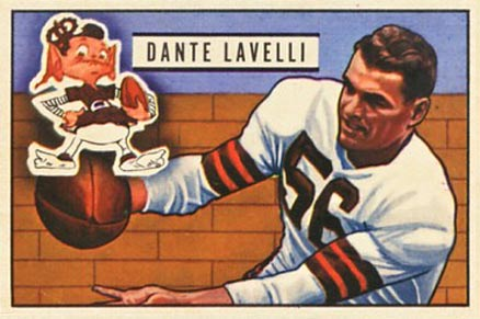 1951 Bowman Dante Lavelli #73 Football Card