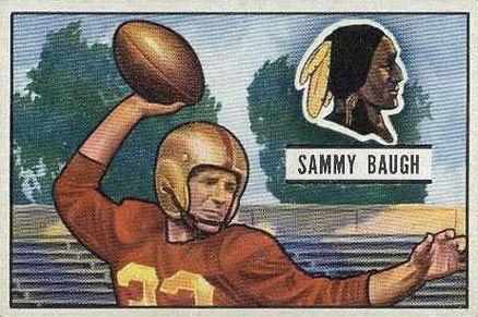 1951 Bowman Sammy Baugh #34 Football Card