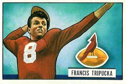 1951 Bowman Frank Tripucka #29 Football Card