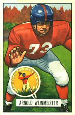 Verzamelkaarten, ruilkaarten 1951 Bowman #92 Otto Schnellbacher New York Giants RC Rookie Football Card Verzamelkaarten: sport