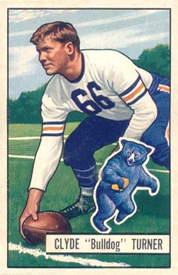 1951 Bowman Bulldog Turner #13 Football Card