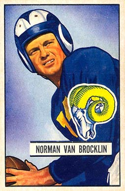 1951 Bowman Norm Van Brocklin #4 Football Card