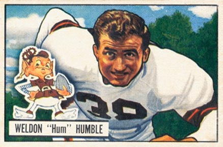 1951 Bowman Weldon Humble #1 Football Card