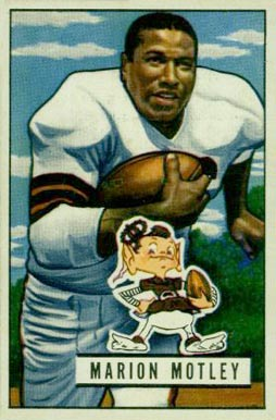 1951 Bowman Marion Motley #109 Football Card