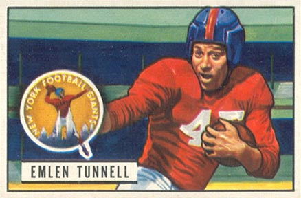 1951 Bowman Emlen Tunnell #91 Football Card