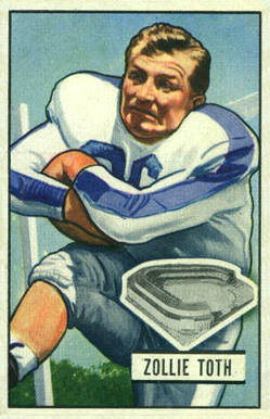1951 Bowman Zollie Toth #45 Football Card