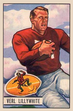 1951 Bowman Verl Lillywhite #33 Football Card