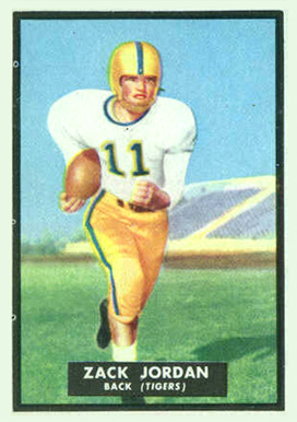 1951 Topps Magic Zach Jordan #41 Football Card