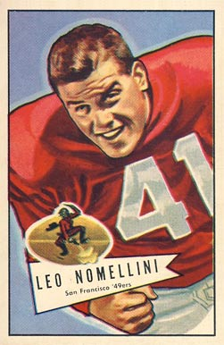 1952 Bowman Large Leo Nomellini #125 Football Card