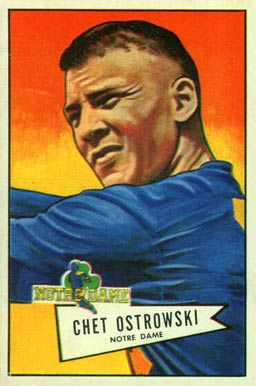 1952 Bowman Large Chet Ostrowski #124 Football Card