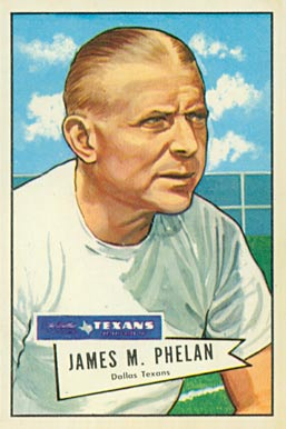1952 Bowman Large Jimmy Phelan #122 Football Card