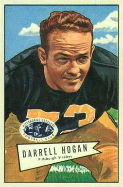1952 Bowman Large Darrell Hogan #118 Football Card