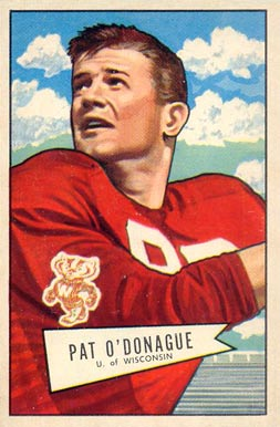 1952 Bowman Large Pat O'Donague #117 Football Card