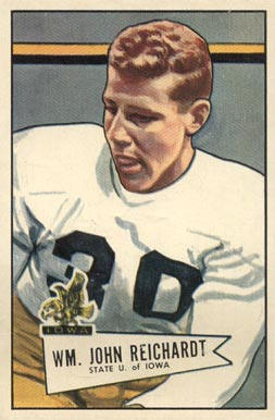 1952 Bowman Large Bill Reichardt #113 Football Card