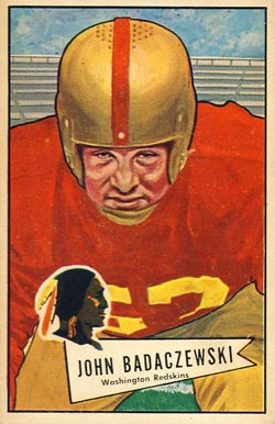 1952 Bowman Large John Badaczewski #112 Football Card