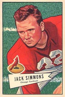 1952 Bowman Large Jack Simmons #110 Football Card