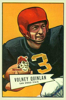 1952 Bowman Large Volney Quinlan #109 Football Card