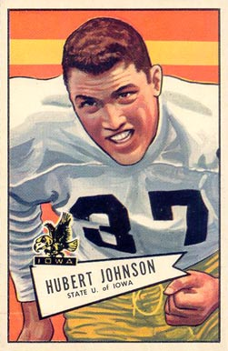 1952 Bowman Large Hubert Johnson #108 Football Card