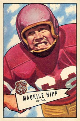 1952 Bowman Large Maurice Nipp #107 Football Card